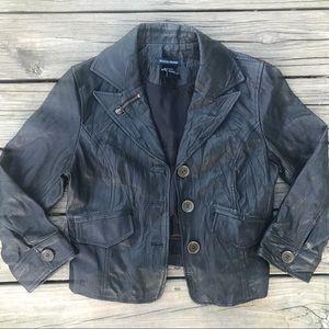 Boston Proper Women's Jacket-Black Genuine Leather